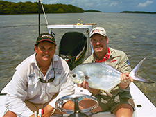 Permit on the flats with Wade Boggs. Flats fishing the Marquesas Keys